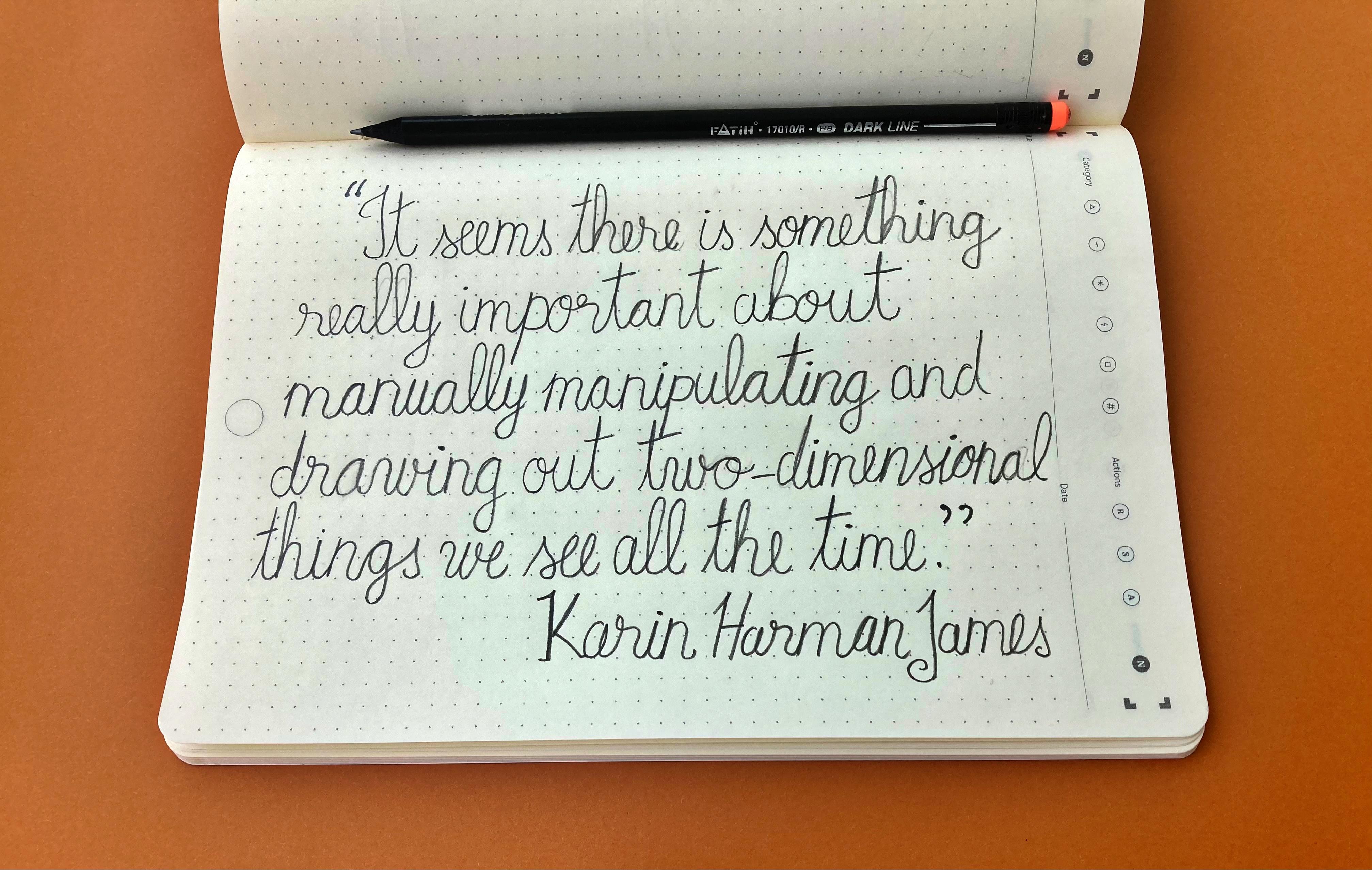 Combine handwriting and journaling